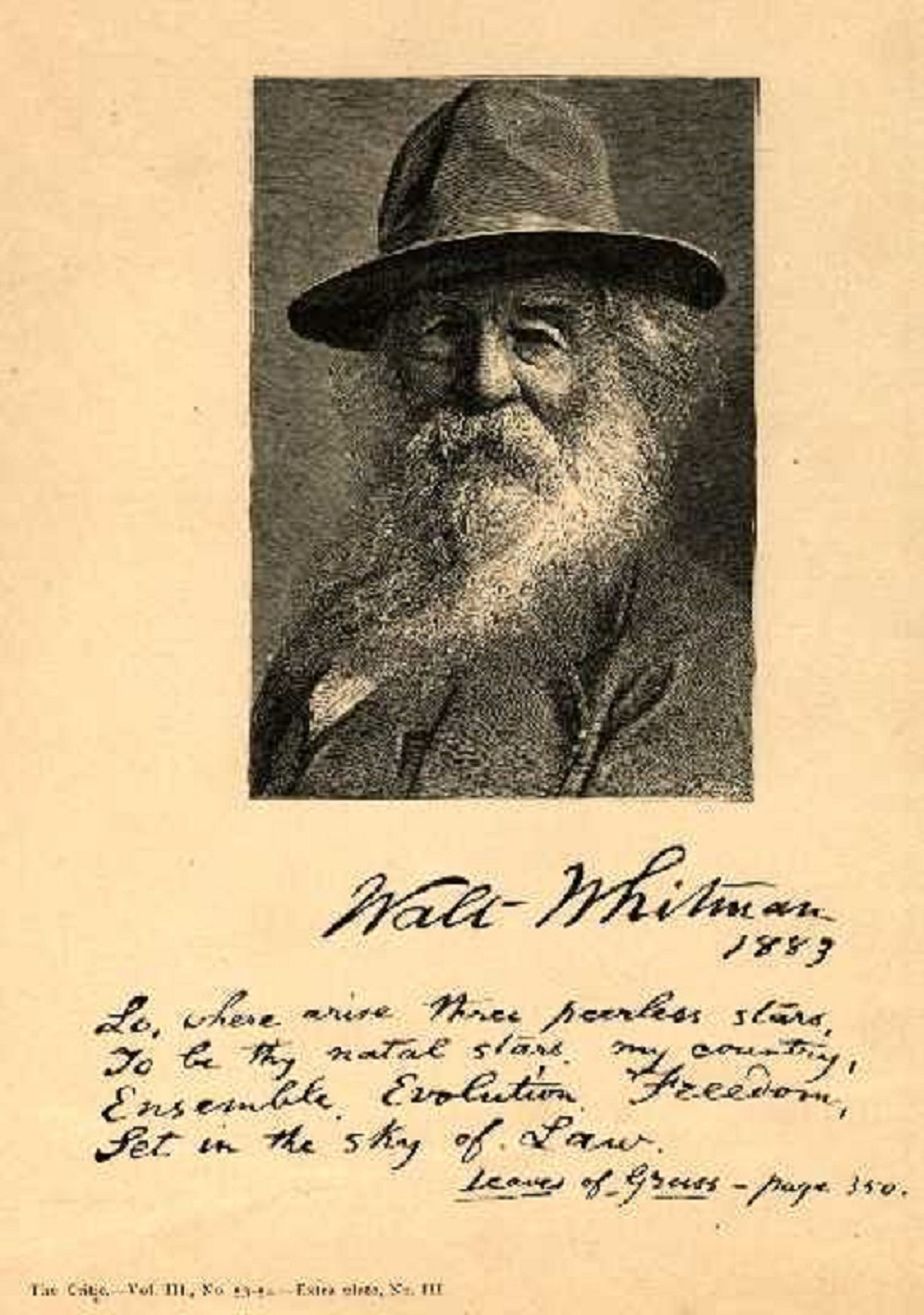 walt whitman mary carroll hackett poetry and prose whitman walt 1819 1892 1883 engraving