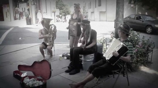 http://www.ashevillestreetmusic.com/  Carolina Catskins with Washboard Sadie busking Asheville Street Music  Asheville, NC Check out their video here! https://www.youtube.com/watch?v=T0mxherHpxo