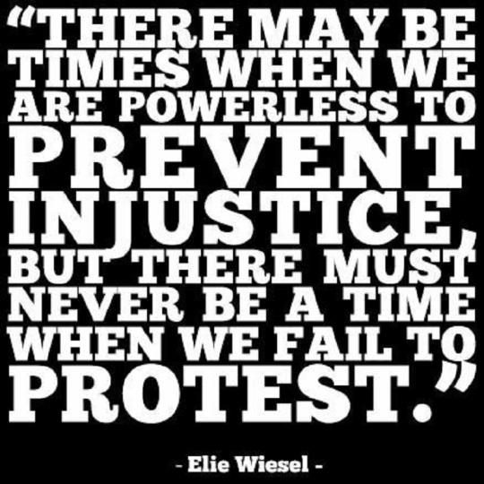 elie wiesel on protest
