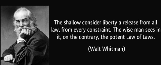 quote-the-shallow-consider-liberty-a-release-from-all-law-from-every-constraint-the-wise-man-sees-in-walt-whitman-197609