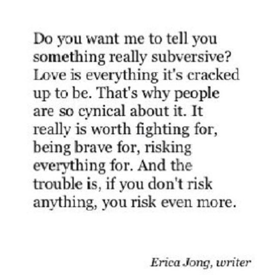Love subversive Erica Jong