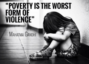 poverty of violence