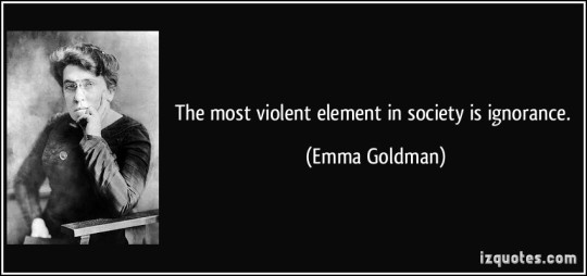 ignorance violence
