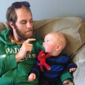 All grown up with his mini-me, his nephew Max